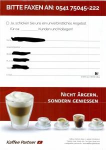 Kaffee Partner Mailing 2015