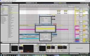Ableton Live Arrangement-Ansicht Produktion des Titels #melancholia