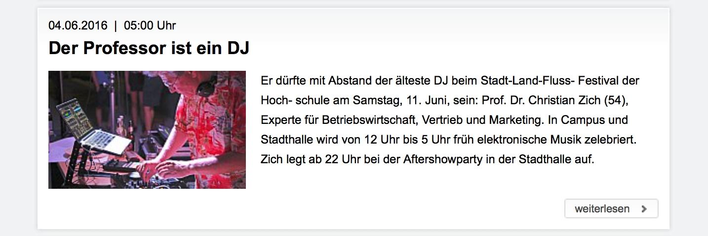 Professor Zich DJ
