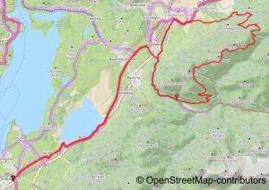 Karte zu einer Mountainbiketour in den Allgäuer Alpen. Trauchberg, Halblech, Trauchgau
