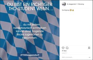 Ein Instagram-Post der technischen Hochschule Deggendorf