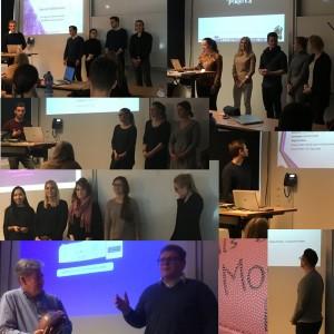 Studierende der technischen Hochschule Deggendorf bei der Präsentation eines Praxisprojektes.
