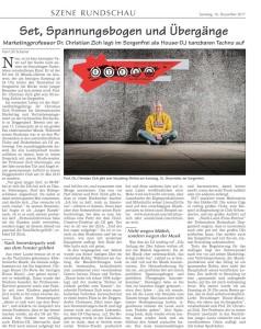 Artikel im Straubinger Tagblatt über den Auftritt von Professor Dr. Christian Zich im Café Sorgenfrei