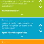 Diskussion im sozialen Netzwerk Jodel