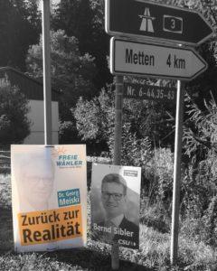 Wahlplakat der Freien Wähler