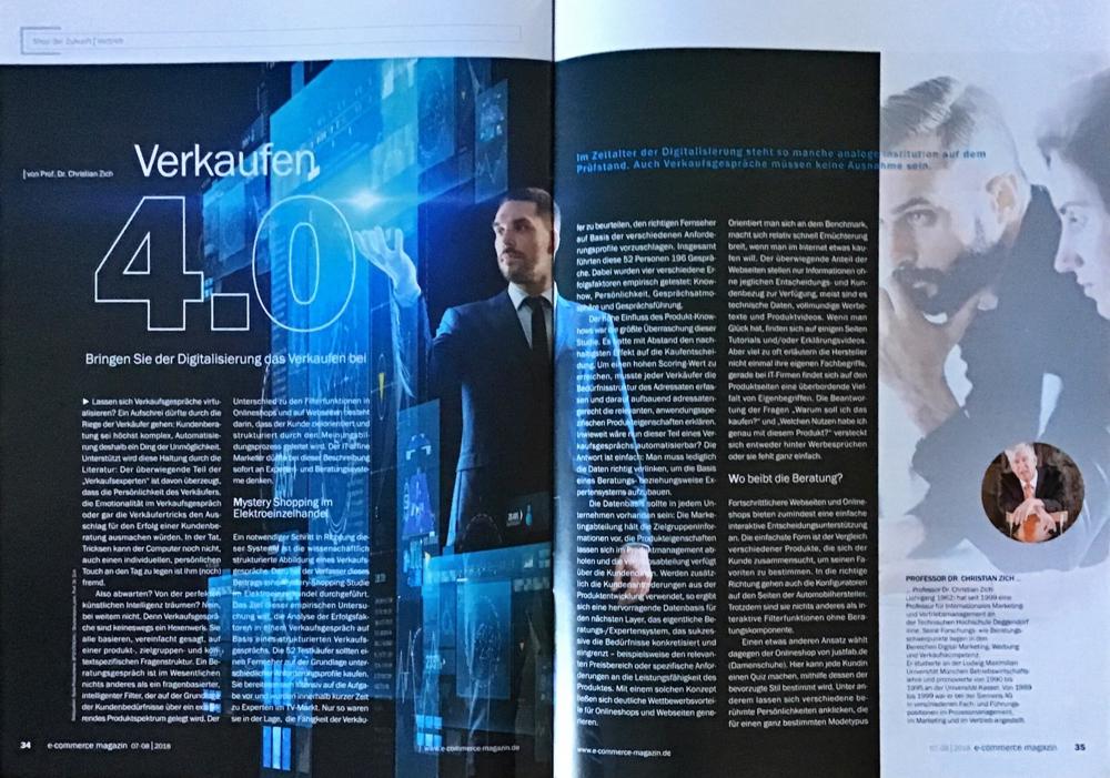 Artikel von Professor Dr. Christian Zich über virtuelle Verkaufsgespräche