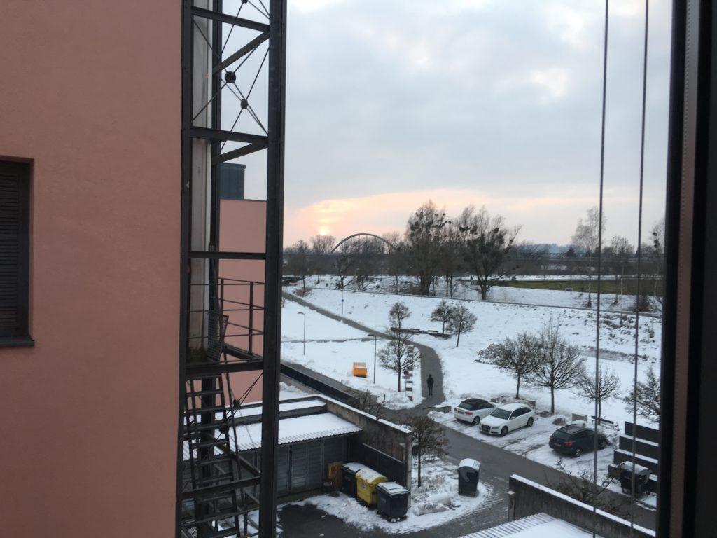 Blick aus dem Fenster der TH Deggendorf